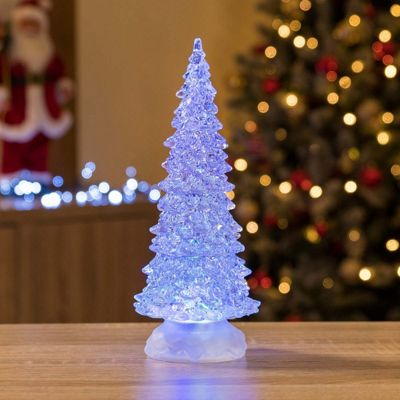 Christow Colour Changing LED Water Christmas Tree With Glitter
