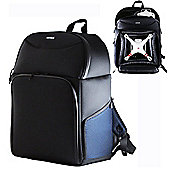 Navitech Rugged Black & Blue Backpack Rucksack For Drones up to 45x30cm