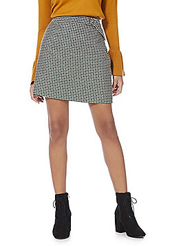 F&F Houndstooth Jacquard Mini Skirt - Green & Multi