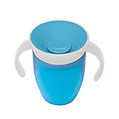 Munchkin Baby Miracle Non-Spill 360° Easy Grip Handle Toddler Trainer Cup 207ml Blue