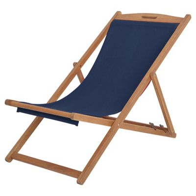 Kingsbury Wooden Navy Deck Chair Catalogue Number 722-2806  sc 1 st  Tesco & Kingsbury Wooden Navy Deck Chair
