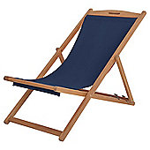 Kingsbury Wooden Navy Deck Chair