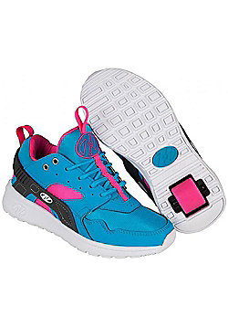 Heelys Force Aqua/Grey/Pink Heely Shoe - Blue