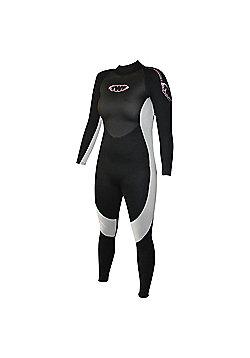 Ladies Full Suit 2.5mm Blk/Silv Size 14