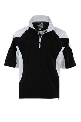 Woodworm Golf V2 Waterproof Half Sleeve Top Slipover Windshirts Blk S