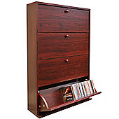 Cd 200 - Media Storage Cupboard - Mahogany