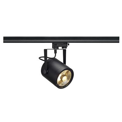 Euro Spotlight Round Black Max. 75W Including 3 Circuit Adaptor