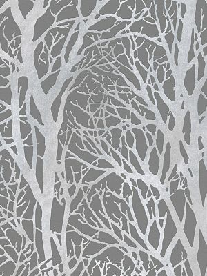 Tree Branches Wallpaper Dark Grey and Silver AS Creation 30094-3