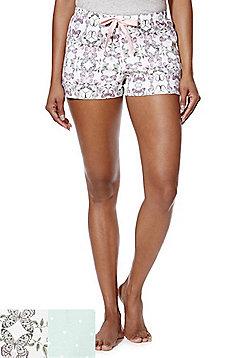 F&F 2 Pack of Jersey Lounge Shorts - Multi