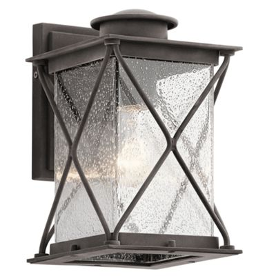 Weathered Zinc Small Outdoor Wall Light - 1 x 75W E27
