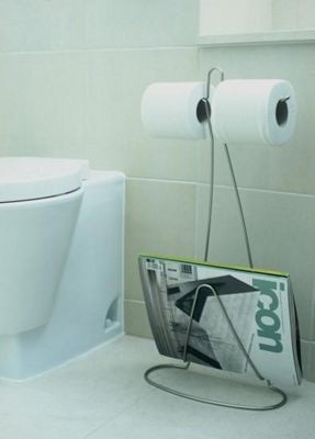 Black and blum loo magazine toilet roll holder