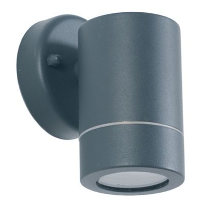 Dark Grey Outdoor Wall Light Simple Clean Lined Design Outdoor Use