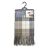 Country Club Chateau Acrylic Check Throw 130 x 190cm, Brown