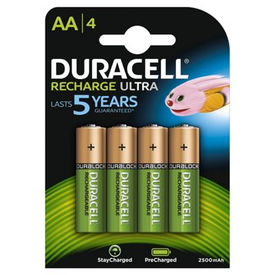 Duracell Stay Charged Rechargable Batteries AA 4 pack