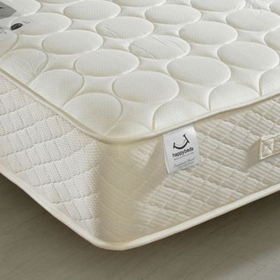 Happy Beds Mirage Open Coil Spring Quilted Bamboo Natural FIllings Mattress - 2ft6 Small Single