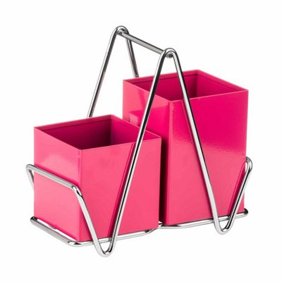 Premier Housewares Cutlery Caddy, Hot Pink