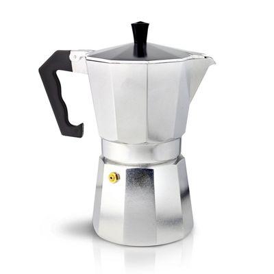 Café Ole 9-Cup Italian Style Aluminium Espresso Coffee Maker, Silver, 360 ml