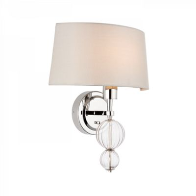 Wall Light - Polished nickel plate & marble silk