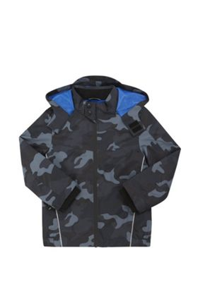 F&F Camouflage Print Mesh Lined Mac Multi 5-6 years