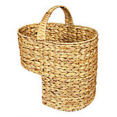 Woodluv Water Hyacinth Stair Basket With Handle