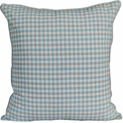 Homescapes Cotton Gingham Check Blue Cushion Cover, 60 x 60 cm