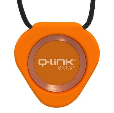 Q-Link SRT-3 Waterproof Pendant│Well-Being Fitness Acrylic Triangle│Orange