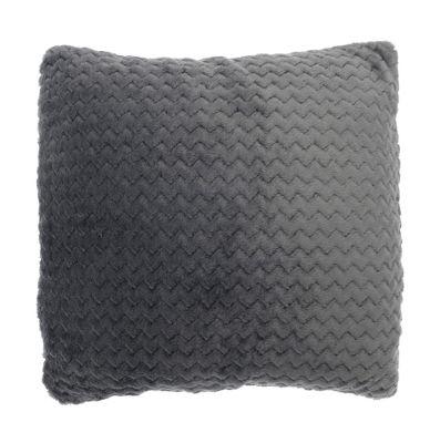 Country Club Chevron Cushion 43cm x 43cm, Grey
