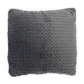 Country Club Chevron Cushion 43cm x 43cm, Grey