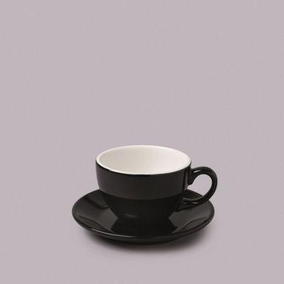 WM Bartleet & Sons Large Black Cup & Saucer