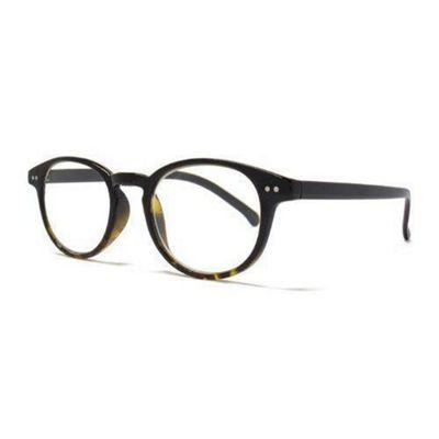 14542f45d0 Keyhole Detail Round Reading Glasses in Black   Tortoiseshell - Lens  Strenth 1.0
