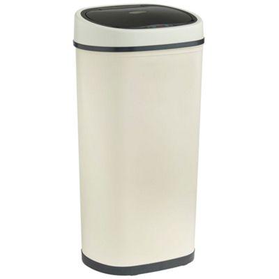 VonHaus 50L Cream Steel Sensor Bin