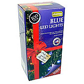 100 Blue Outdoor Static LED Christmas Lights