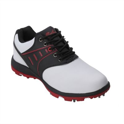 Confidence Iii Waterproof Golf Leather Shoes White/ Black 7