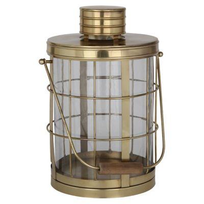 Antique Brass Stainless Steel Round Lantern