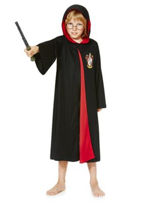 Harry Potter Dress-Up Costume 7-8 yrs Black