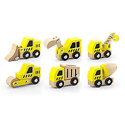 Viga Wooden Construction Vehicles - 6 pieces