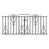 Wrought Iron Style Scroll Metal Driveway Gate 213x91cm