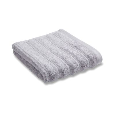 Bianca Cotton Soft Ribbed Pair Of Guest Towels - Grey