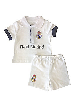 Real Madrid Baby Kit T-Shirt and Shorts - 2016/17 - White