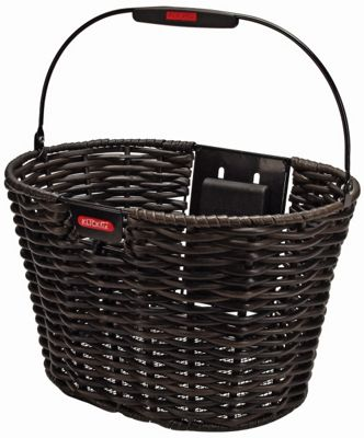 Rixen & Kaul Structura Oval Front Basket: Black.