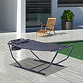 Outsunny Freestanding Garden Hammock Outdoor Lounge Swing Chair - Grey