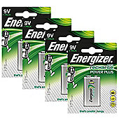 4 x Energizer 9V PP3 Block Rechargeable Battery 175 mAh