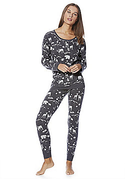 F&F Winter Scene Print Twosie - Grey