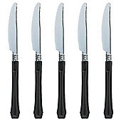 Black Premium Plastic Knives - 20 Pack