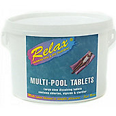 5kg Relax Multi-Function Swimming Pool Chemicals 200g Chlorine Tablets