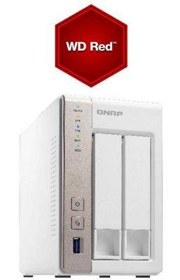 QNAP TS-251/8TB-RED 2-Bay 8TB(2x4TB WD RED) 1GB RAM High Performance NAS and Media Server