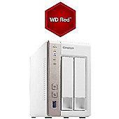 QNAP TS-251/8TB-RED 2-Bay 1GB RAM 8TB(2x4TB WD RED) NAS and Media Server