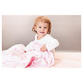 Pink Hearts Toddler Blanket 100x150cm