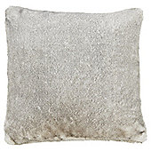 Tesco Grey Tipped Faux Fur Cushion