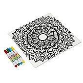 Dexam Just Add Colour Ceramic Trivet, Mandala